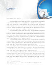 Medical: Tomography Machine Letterhead Template #03151
