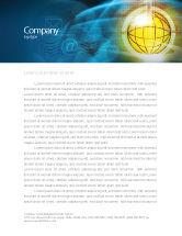 Telecommunication: World Online Briefpapier Template #03166