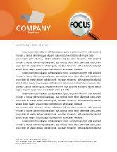 Consulting: Focus Letterhead Template #03176