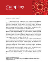 Medical: Red Spheres Letterhead Template #03177