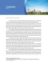 Technology, Science & Computers: Ecological Environment Letterhead Template #03184