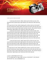 Cars/Transportation: Bike Letterhead Template #03188