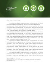 Medical: Signs Of Medicine In A Green Colors Letterhead Template #03195