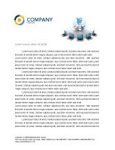 Technology, Science & Computers: Data Transfer Letterhead Template #03211