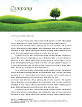 Nature & Environment: Meadow Letterhead Template #03213