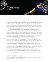 Holiday/Special Occasion: Champagne Letterhead Template #03246