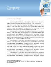 Technology, Science & Computers: Charts Letterhead Template #03247