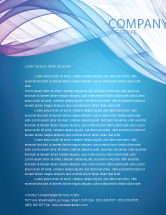 Abstract/Textures: Blue Veil Letterhead Template #03276