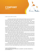 Agriculture and Animals: Jumping Goldfish Letterhead Template #03286