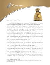 Financial/Accounting: 富のバッグ - レターヘッドテンプレート #03303