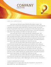 Business Concepts: Bright Idea Letterhead Template #03307