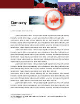 Flags/International: Canada Sign Letterhead Template #03308