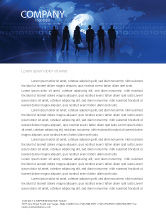 Global: People Silhouettes Letterhead Template #03312