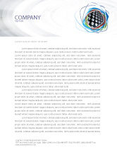 Art & Entertainment: Loud Speakers Letterhead Template #03332