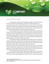 Abstract/Textures: Fresh Dew On The Green Leaf Letterhead Template #03376
