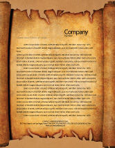 Abstract/Textures: Scroll Letterhead Template #03378