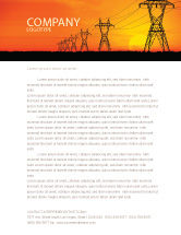 Electric letterhead templates in microsoft word adobe illustrator utilitiesindustrial transmission facilities letterhead template 03380 spiritdancerdesigns Images