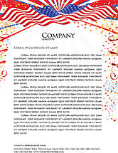 Holiday/Special Occasion: 4th of July Celebration Free Letterhead Template #03392