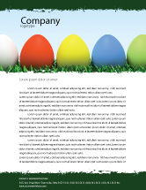 Holiday/Special Occasion: Easter Eggs Letterhead Template #03396