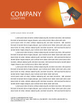 Financial/Accounting: Financial Analytics Letterhead Template #03400