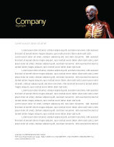 Medical: Female Anatomy Breast And Facial Bones Letterhead Template #03404