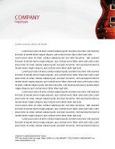 Art & Entertainment: Semi Akoestische Gitaar Briefpapier Template #03419