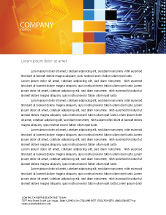 Technology, Science & Computers: Circuit Board Letterhead Template #03422