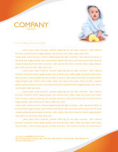 People: Little Baby Letterhead Template #03426