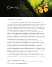 Agriculture and Animals: Butterfly Effect Letterhead Template #03432