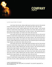 Careers/Industry: Fire Brigade Letterhead Template #03434