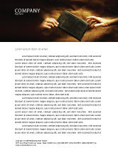 Religious/Spiritual: Christianity Letterhead Template #03436