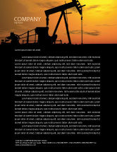 Utilities/Industrial: Oil Producer Letterhead Template #03444