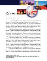 Flags/International: United Kingdom Letterhead Template #03448