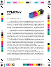 Careers/Industry: CMYK Letterhead Template #03474