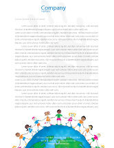 Global: Friendship And Unity Letterhead Template #03475