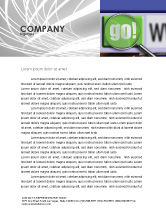 Technology, Science & Computers: Search Engine Letterhead Template #03497