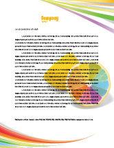 Business Concepts: Plantilla de membrete - diversidad del color #03498