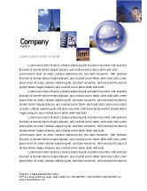 Flags/International: European Union Sign Letterhead Template #03499