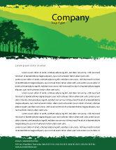 Nature & Environment: Mountain Landscape Letterhead Template #03509