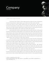 Art & Entertainment: Thinker Letterhead Template #03525