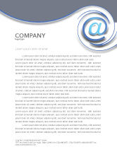 Technology, Science & Computers: Modern Communication Via Email Letterhead Template #03532