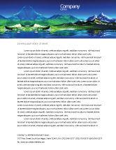Nature & Environment: Mountain Lake Letterhead Template #03534