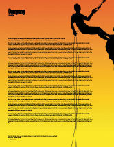 Consulting: Silhouette Of Rock Climber Letterhead Template #03535