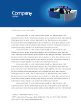 Abstract/Textures: Business Evaluation Letterhead Template #03560