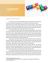 Business Concepts: Strategy Letterhead Template #03563