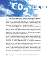 Nature & Environment: Carbonic Acid Letterhead Template #03601