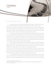 Business Concepts: Winding Road Letterhead Template #03602