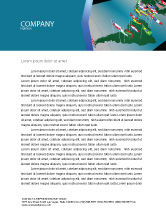 Flags/International: South and Central America Letterhead Template #03615