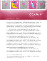 Education & Training: Baby's Room Theme Letterhead Template #03622