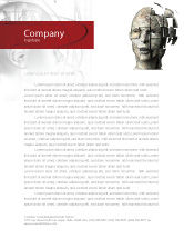 Technology, Science & Computers: Cybernetician Letterhead Template #03634